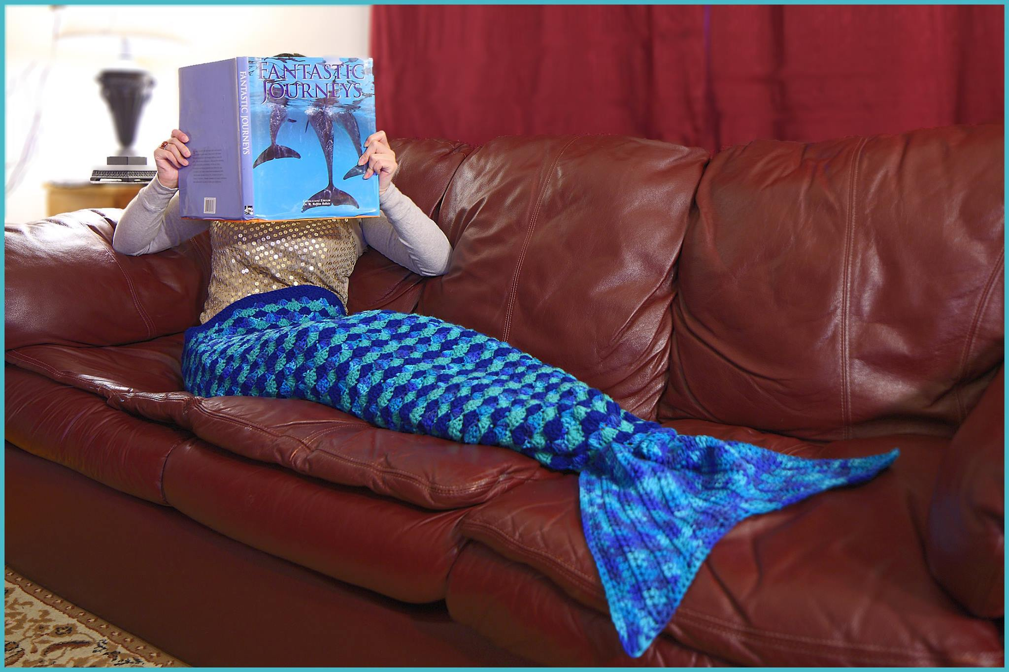 Crochet Tutorial Mermaid Tail Afghan Pattern3 Sizes Small Child