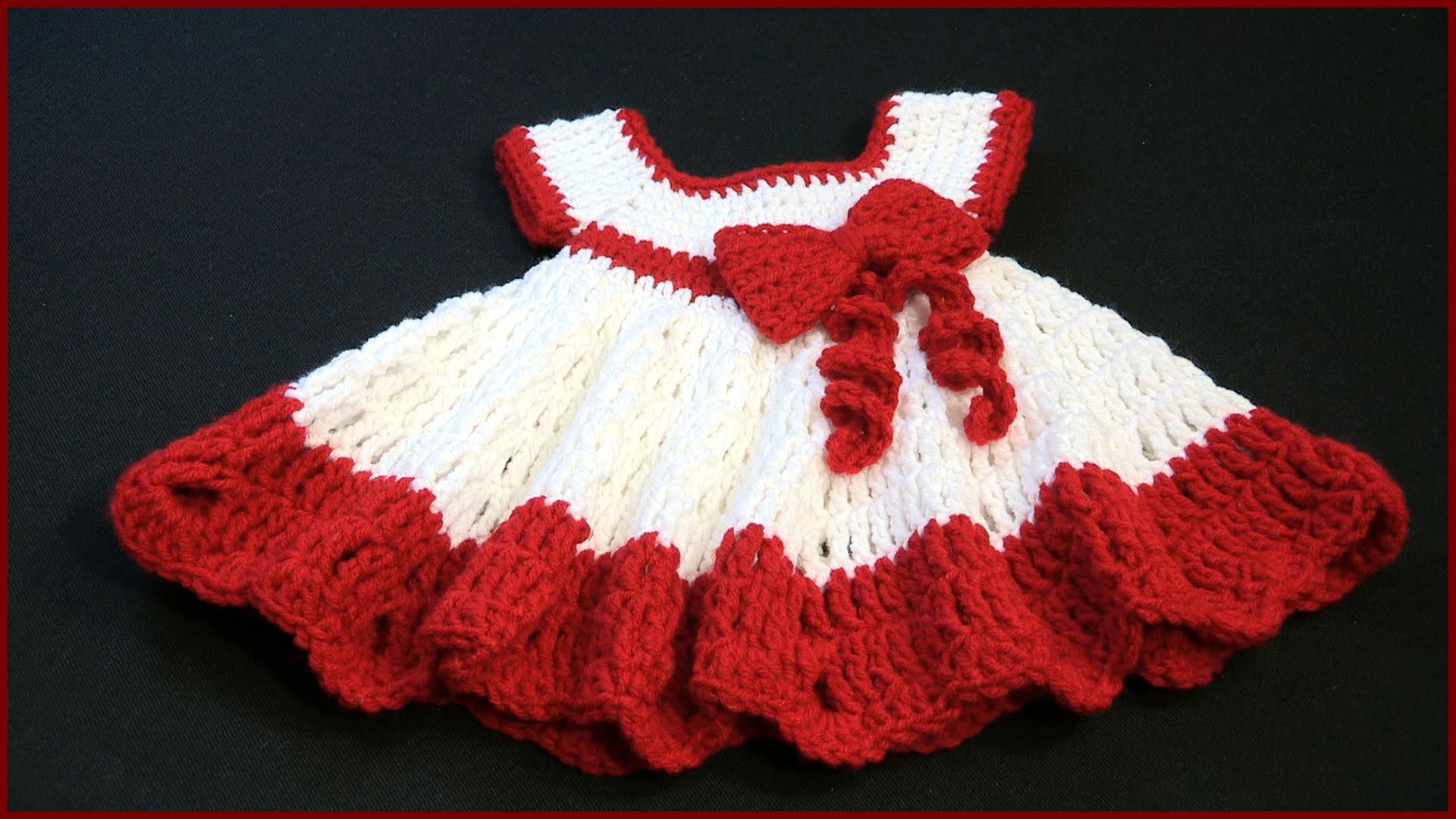 Crochet Tutorial Baby Dress With A Bow Yarnutopia By