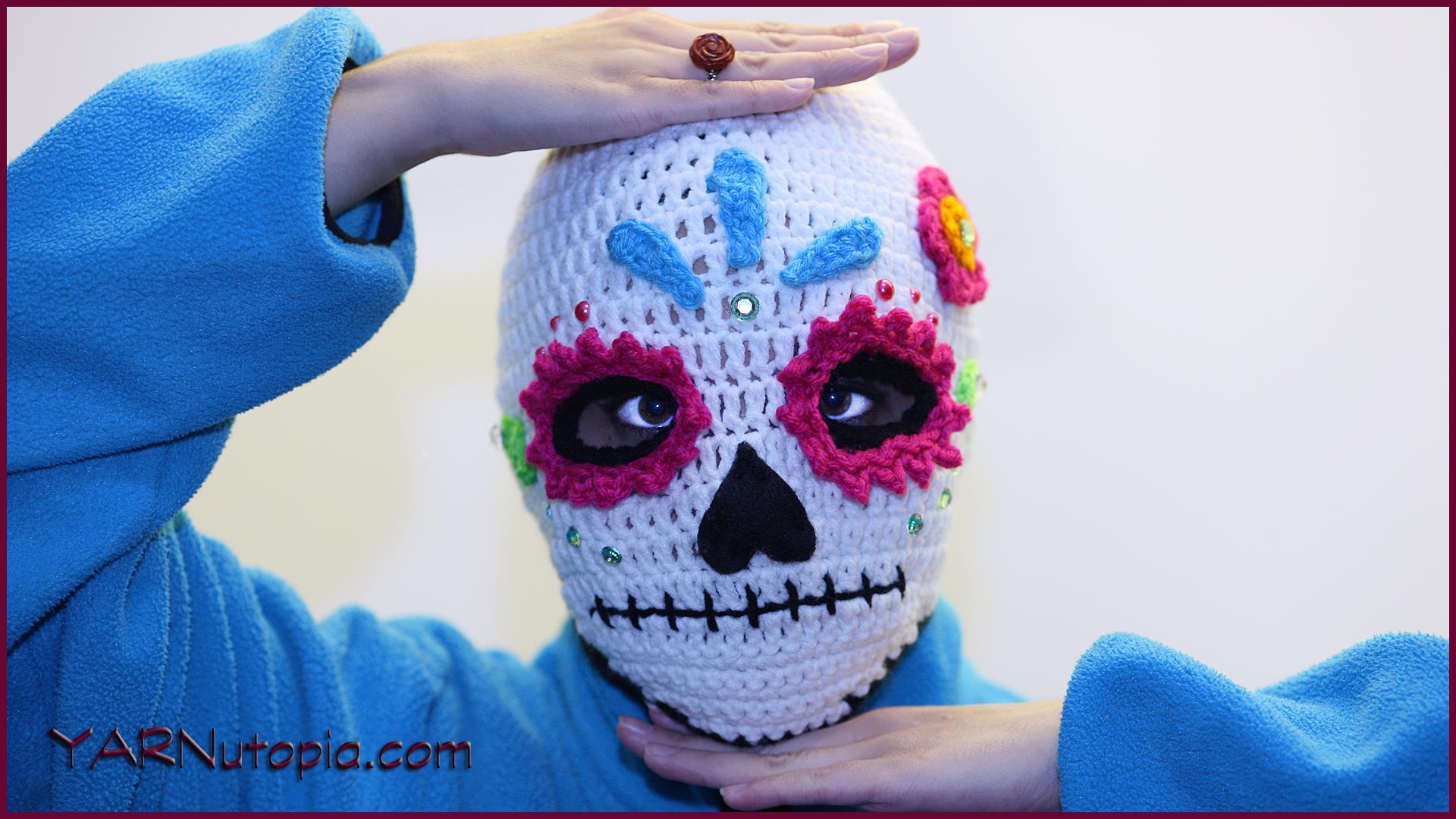 Sugar Candy Skull Crochet Pattern | Squirrel Picnic | 1080x1920