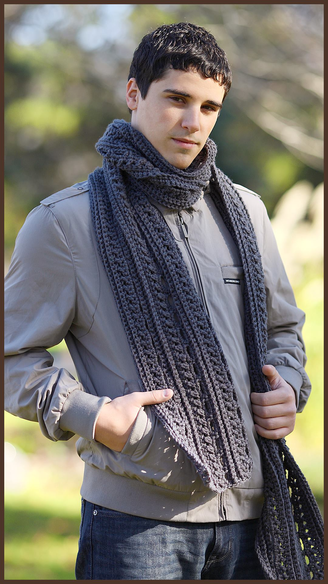 Crochet Tutorial The Gentleman S Scarf Yarnutopia By Nadia Fuad Yarnutopia By Nadia Fuad